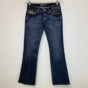 Miss Me Sunburst Pocket Stitched Bootcut Jeans